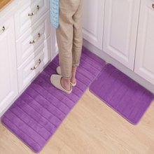 40*60 40*120cm Thicken Floor Mat Soft Rebound Kitchen Carpets Stripe Doormats Non Slip Absorbent Rugs Bathroom Set
