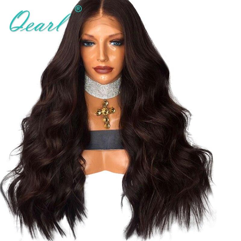 440 грамм темно-коричневый Цвет 22 24 26 Длинные Синтетические волосы на кружеве парики супер толстая Высокая плотность бразильский Волосы remy ...