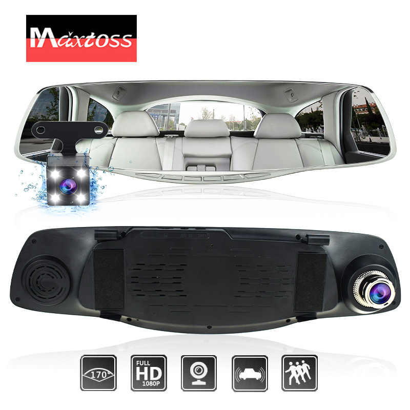 Car Camera Rearview Mirror Dual Lens Auto DVR Dash Cam Cars DVRs Recorder Video Registrator FHD 1080P Night Vision Camcorder
