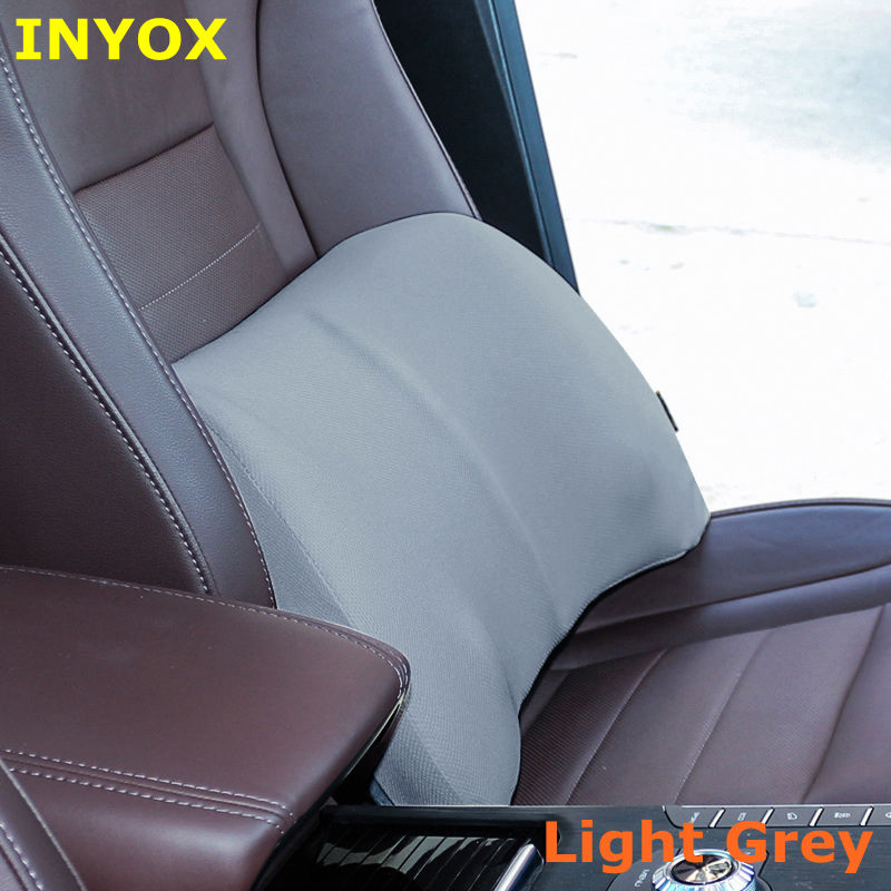 Car back Support Lumbar Pillow for seat Support waist Cushion memory foam cotton mesh Office Chair In auto Travel Massagers home