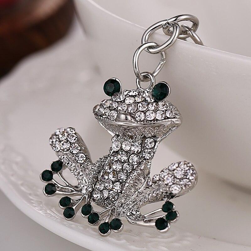 Moda rhinestone sapo kawaii bolsa pingente keychain charme bolsa das  mulheres chaveiro criativo presente Da Lembrança de Cristal titular da  corrente chave f3868567dc