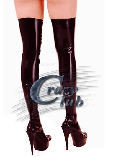 Loco club _ Recién llegado de Abajo Hacia arriba de látex medias de rodilla sexy body de látex producto fetiche látex top venta Rápida entrega