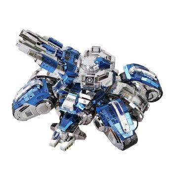 MMZ MODEL MU 3D puzzle metalowe Model gwiazda Craft 2 Siege Tank DIY 3D laserowo wycinane montaż układanki zabawka do dekoracji prezent dla dorosłych