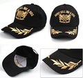 Fashion Trendy Men And Women Baseball Cap Wheat Leaf Pattern Gold Embroidery Outdoor Sports Cap Flat-brimmed Sunscreen Hat