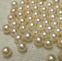 100% natural freshwater pearls, half hole single pearl, extremely strong light 8 9 mm round, white, pink, purple for choose