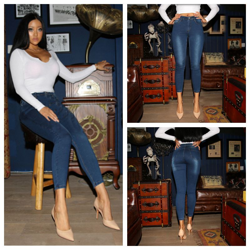Ripped Jeans For Women Skinny Denim Capri Jeans Femme Stretch Plus Size Female Jeans Vaqueros Mujer