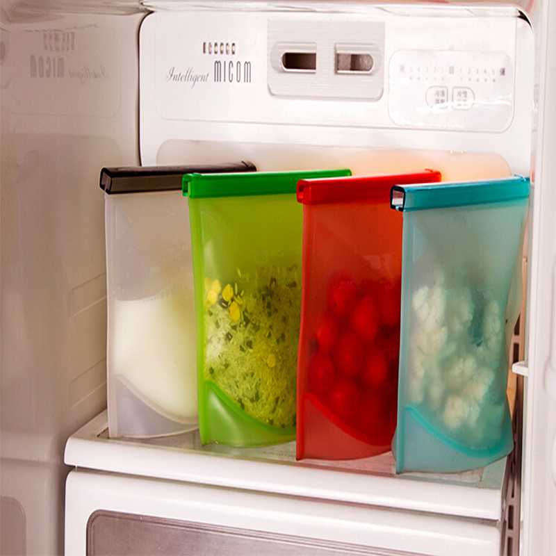 Reusable Silicone Fresh Bag Vacuum Sealed Bag For Snacks