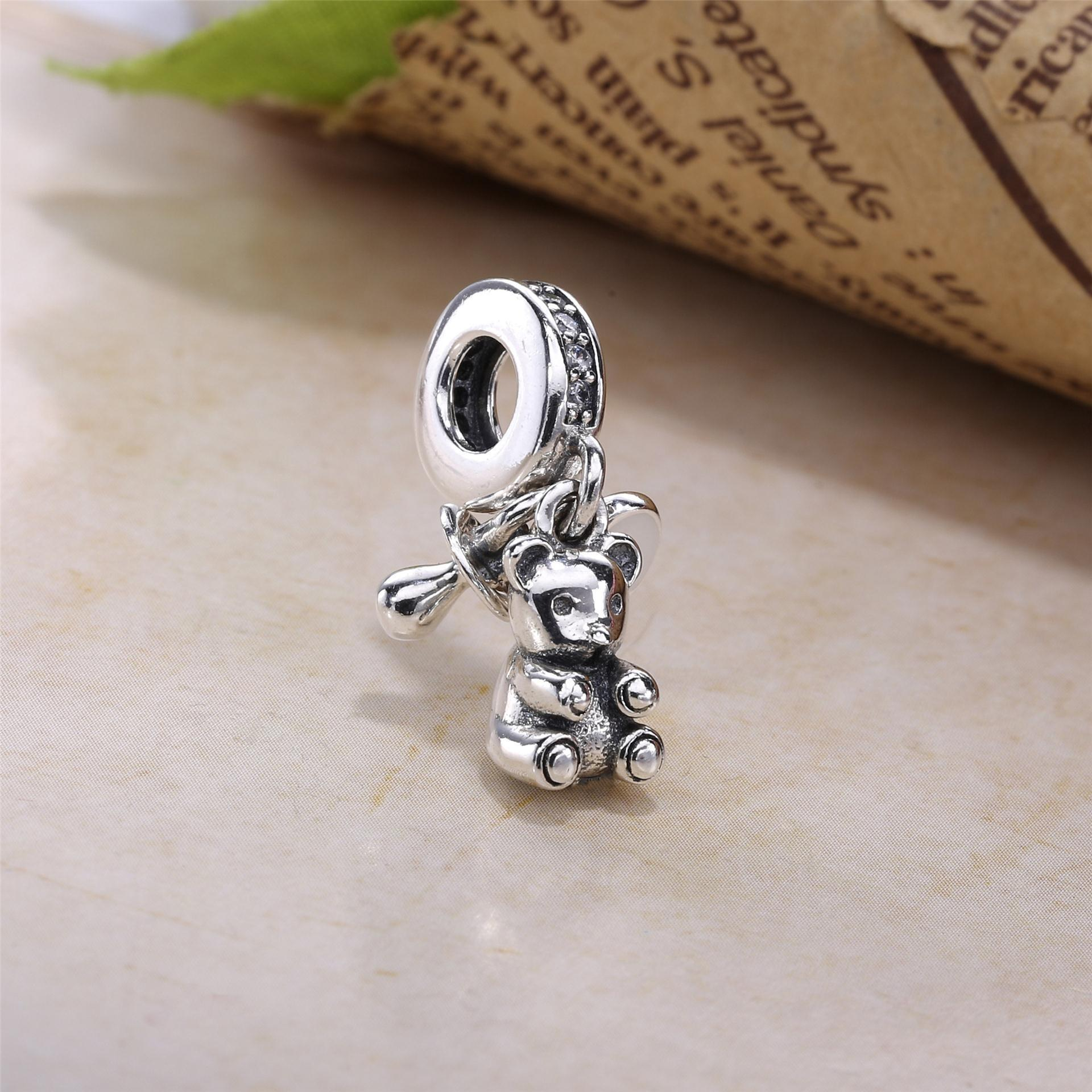 477a510bb ... new arrivals silver enamel cz baby treasures charms fit pandora  bracelets 925 sterling silver pacifier heart ...