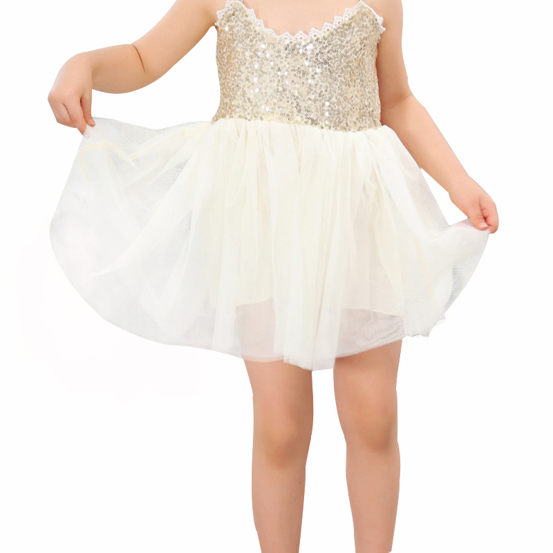Elegant Dress Children Baby Girls Summer Clothing Sequins Wedding Party Gown Sling Princess Dress Kids Birthday Dresses 2-6Years стул coleman summer sling 205147