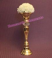 Gold Wedding Flower Vase Table Centerpiece Wedding Props 10 pcs/lot