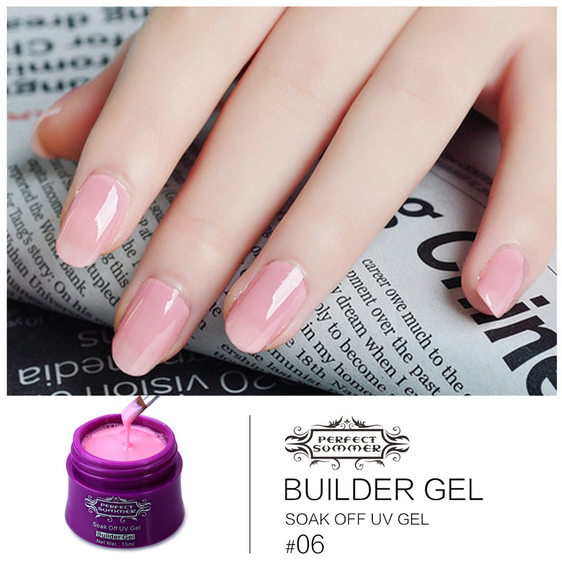Color UV Gel Builder Nail Gel Soak off Long Lasting UV Gel 14 Colors ...