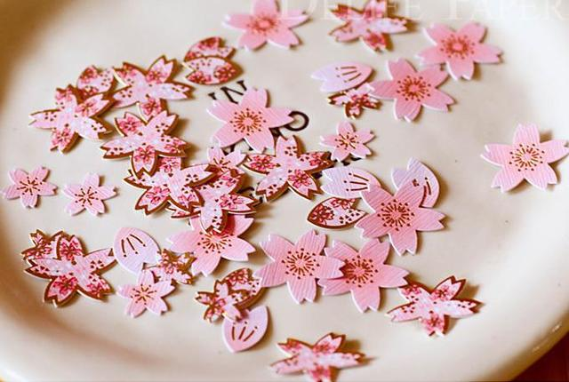 40pcs mix size artificial japanese cherry blossom sakura paper 40pcs mix size artificial japanese cherry blossom sakura paper flower scrapbook stickers set mightylinksfo