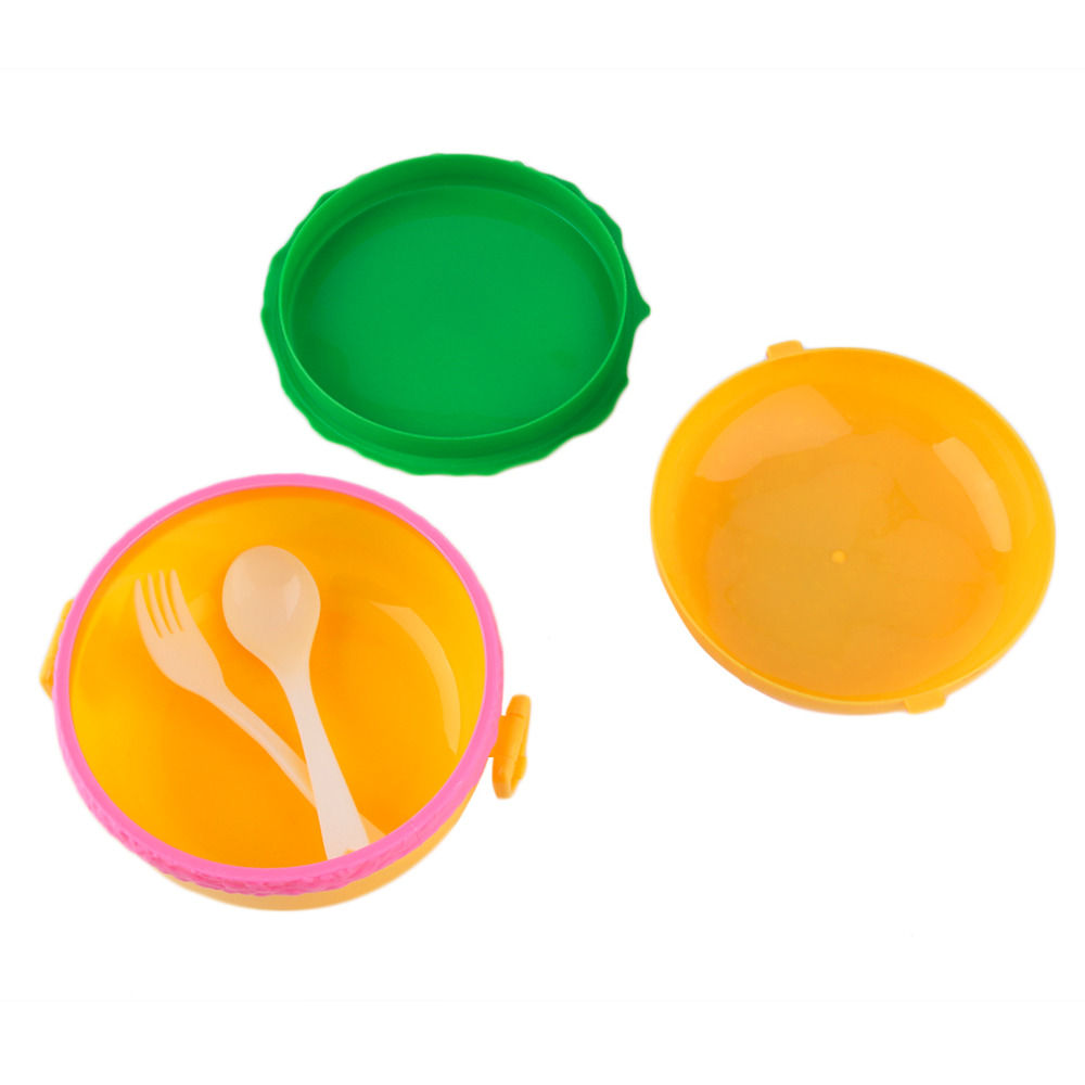 1Pcs Popular Children Hamburger Bento Lunchbox Food Container Sets Storage with Fork for Kids Hot selling
