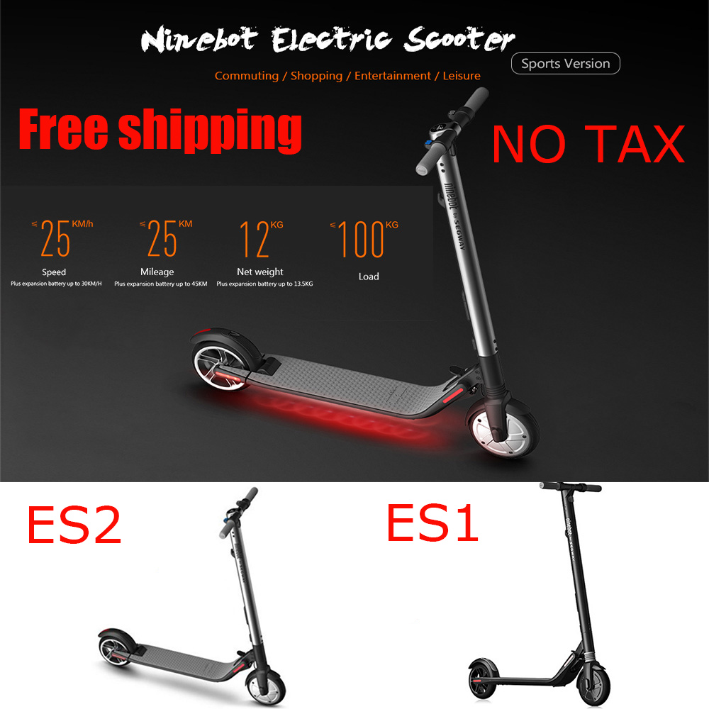 Ninebot ES2 antichoc pliant Scooter électrique Longboard EU/UK/US adaptateur 5.2Ah batterie 25 km/h Scooter électrique APP