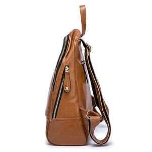 Image 4 - Mochila De piel auténtica para mujer, nueva oferta de bolsos de viaje femeninos, mochilas escolares prácticas para niñas, Notebook de gran capacidad, 100%