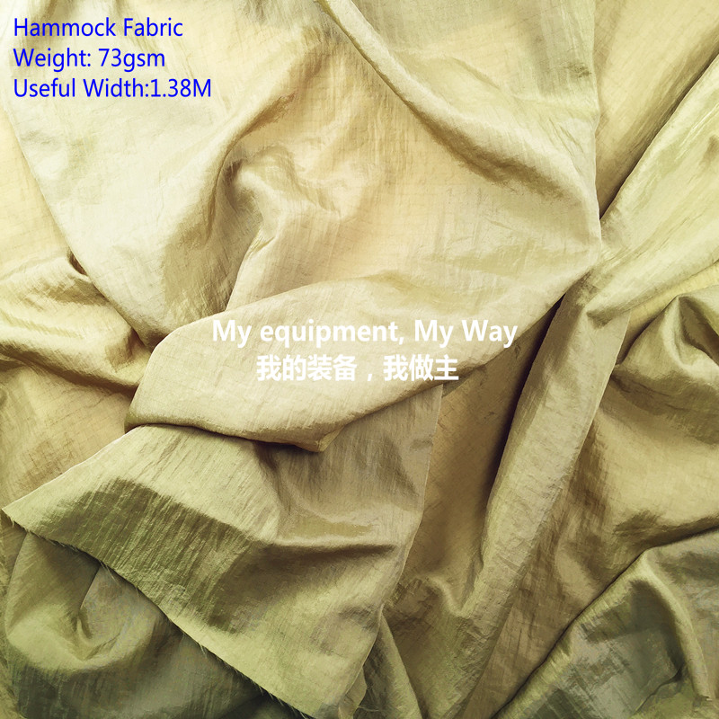 70D Nylon Ripstop 0.5*0.5 Fabric For Hammock,breatherable, Crinkle,WR Treatment