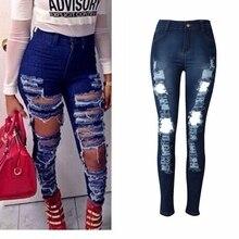 H Trend Zerrissene Jeans Frauen Stretch Loch Dünne Jeans Frau Push Up 2019 Mode  Frauen Kleidung Trendy Hosen Jean Femme 22eb1c571f