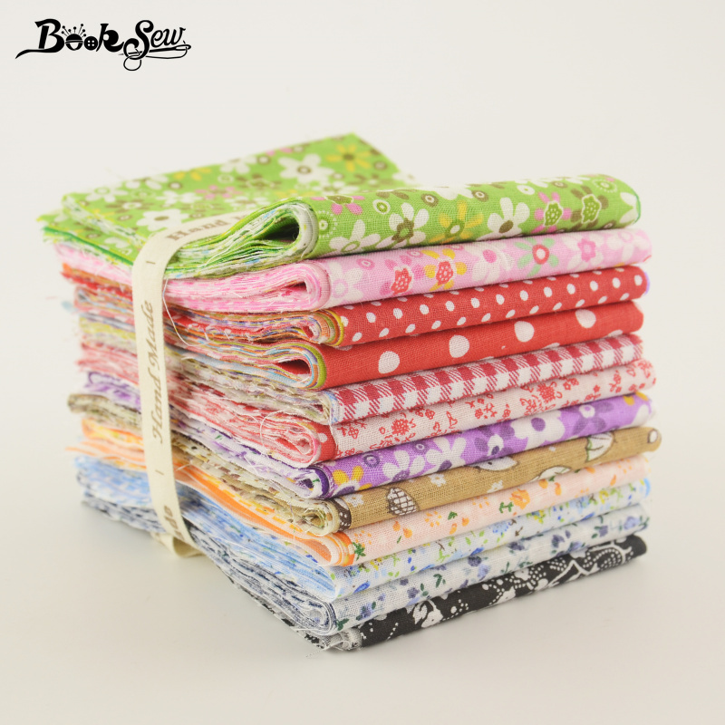 Booksew 84PCS/ Lot 9CMx50CM Cotton Plain Fabric Jelly Rolls Strip Mixed Color No Repeat Quilting Patchwork Home Textile Tissue