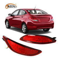 Free Shipping Auto LED Light Car Red Rear Bumper Reflectors Parking Warning Tail Lights Lamp For
