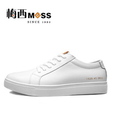 2017 meixi brand men casual shoes genuine leather white common projects men shoes