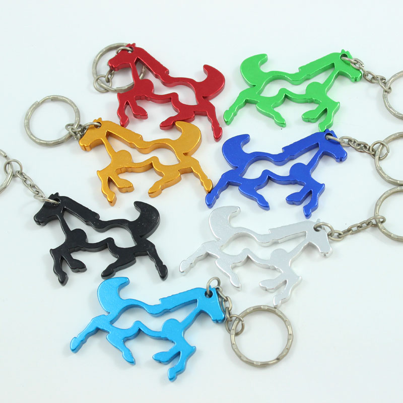 Horse Lovers Aluminum Key Ring Bottle Opener Assort Colors Dressage Horse
