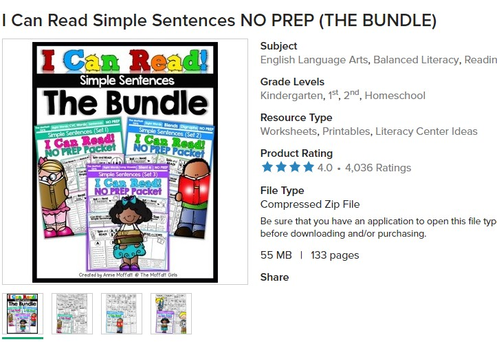 US $5 19 35% OFF|3 packets I Can Read Simple Sentences learning English  Reading, Short Stories, Phonics ,sight Words ,Family Words on  Aliexpress com |
