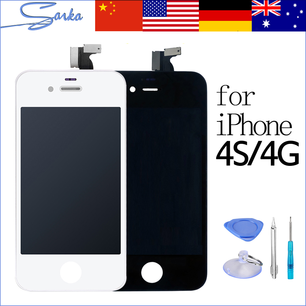SANKA Replacement LCD For iPhone 4 4S A1332 LCD Display Digitizer Touch Screen Assembly Ecran Pantalla LCD Mobile Phone Parts