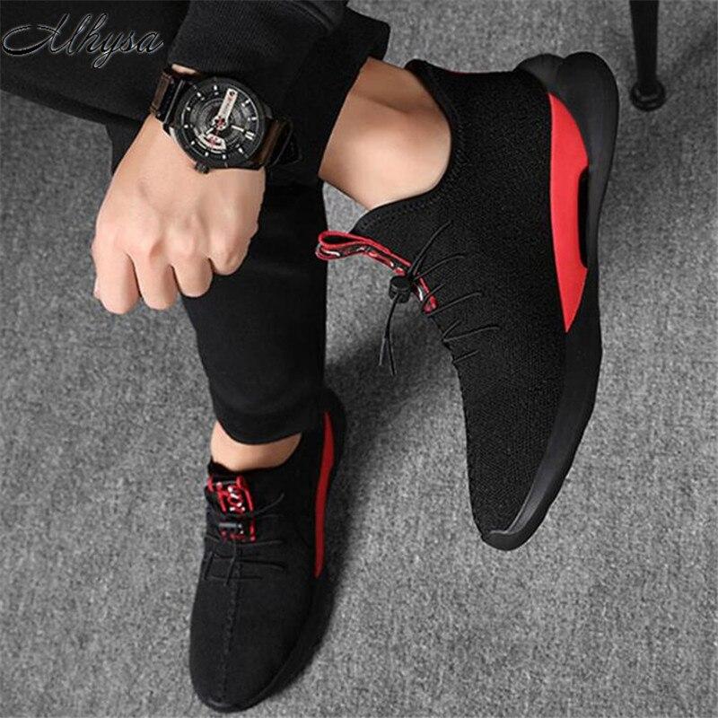 dd6516804 ¡mhysa Casuales De Zapatos white Caminando Hombres Ligeros Transpirable  Tenis Malla Cómodo hombres Lac Bottom Los 2019 Black Zapatillas ...