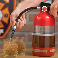 1pcs Creative Fire Extinguisher Drink Dispenser Liquid Water Juice Wine Soda Drink Alcohol Cocktail Beverage Dispenser