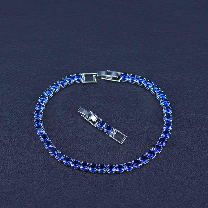 חדש אופנה רויאל טניס צמיד לנשים כסף צבע גדול מעוקב Zirconia רוז אדום אבן מחובר מסיבת קסם תכשיטים