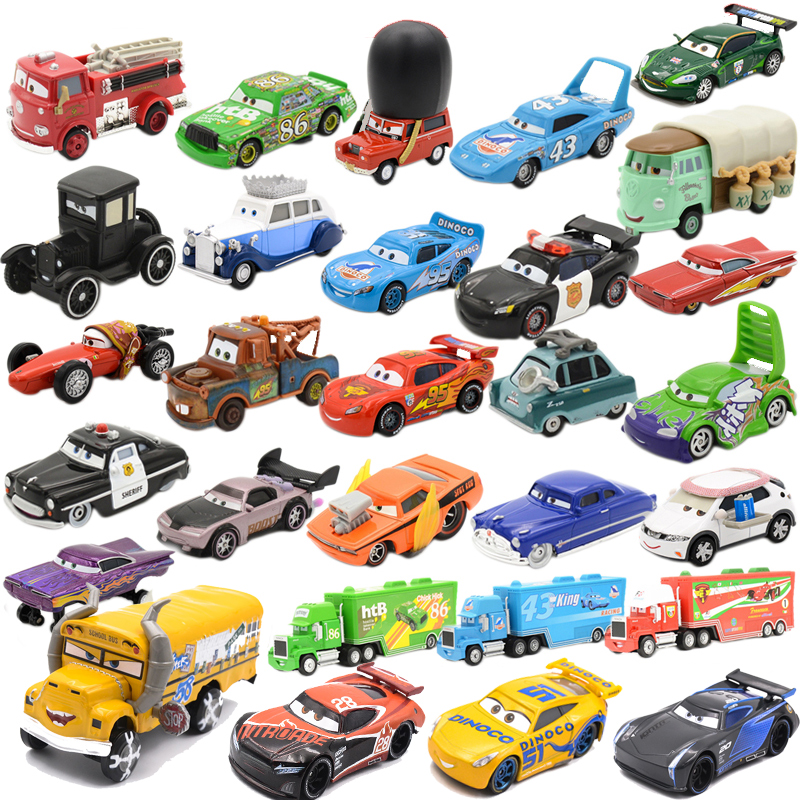 Disney Pixar Cars Lightning McQueen Jackson Storm Dinoco Cruz Diecast Jouets Cars