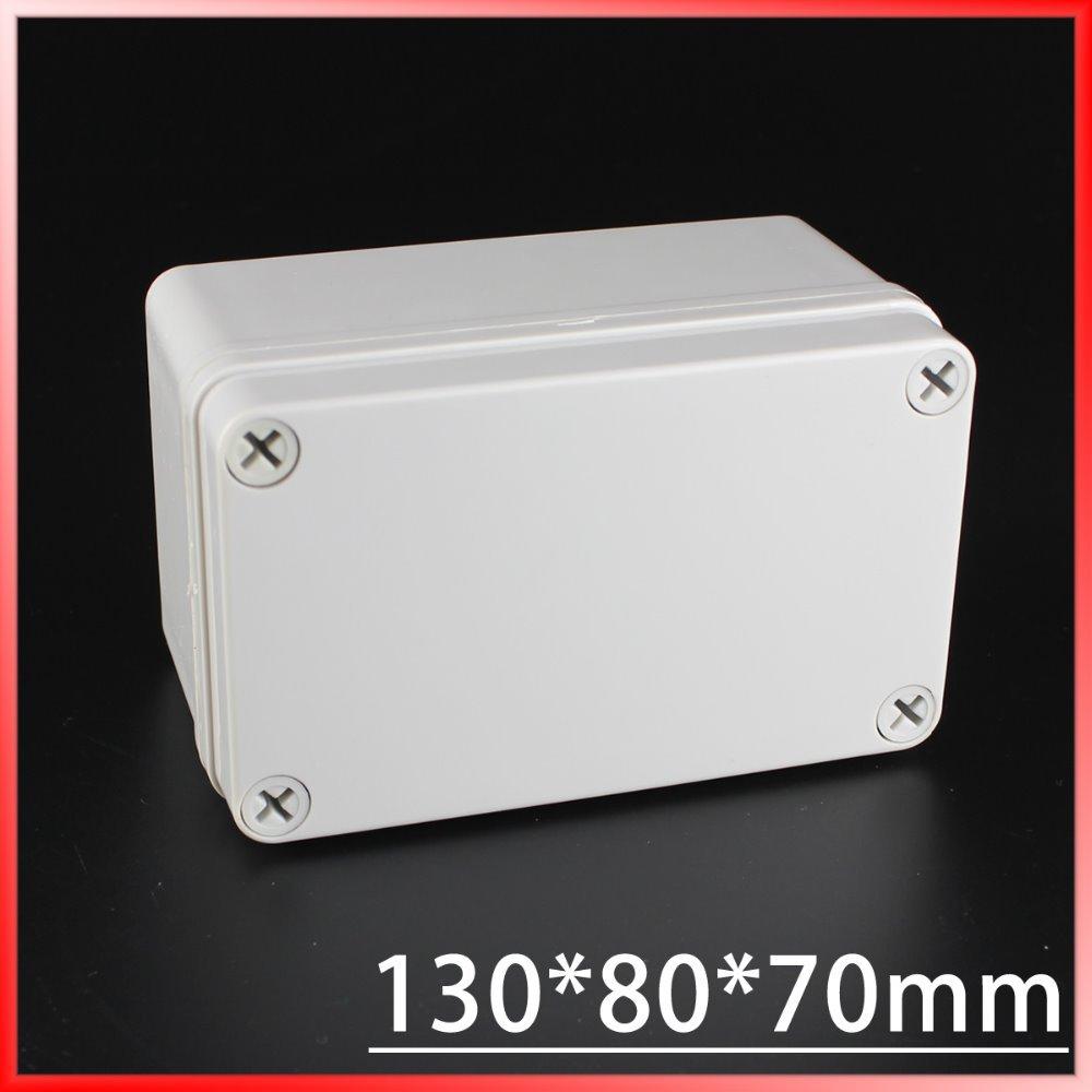 130*80*70MM IP67 Waterproof Plastic Electronic Project Box w/ Fix Hanger Plastic Waterproof Enclosure Box Housing Meter Box