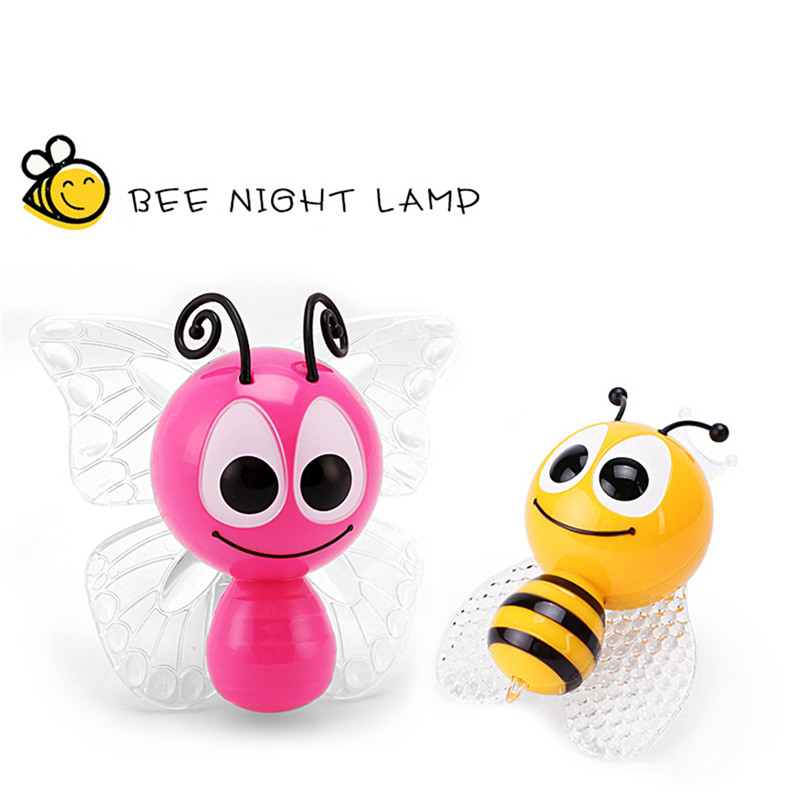 Holiday LED Night Light Colorful Night Light Decoration RGB Led Night Lamp Little Bee & Butterfly Children Lamp For Home Decor