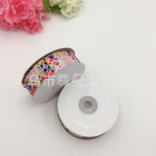 Decorative Silk Bandwidth Digital Printing Sublimation Personality Building Blocks Small Flower Series Thread Ribbon Sideband
