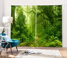 Outdoor Landscape Printing Blackout font b Curtains b font Living Room or hotel Drapes Cortians Sunshade