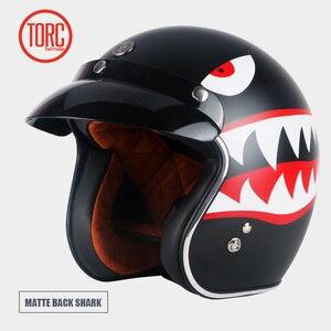 Image 2 - TORC T50 jet helmet motorcycle open face helmet  retro personalized motorbike vintage helmet capacete moto helmet DOT