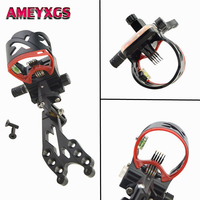 1 Pc AXT45ZM CNC Aluminum Adjustable Compound Bow Sight 5 Pin Fiber Optic Sight For Bow Hunting Shooting Archery Accessories