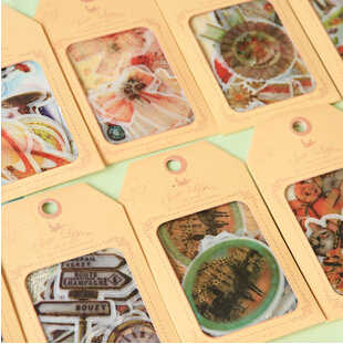 32pcs/pack Japan Vintage Tag & series Gift seal flake/sticker pack/bag hot selling deco packing stickers