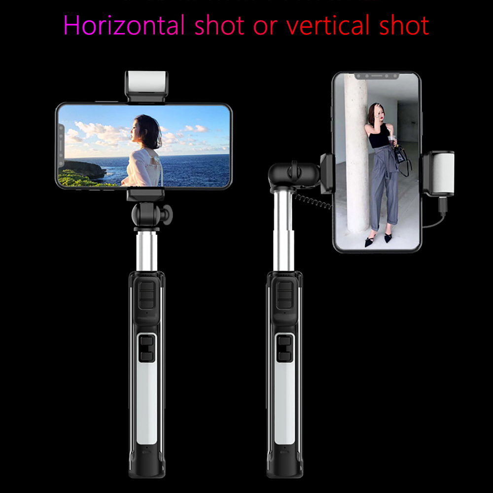 4 in 1 Selfie Stick Phone Tripod Extendable Monopod with Bluetooth Remote Beauty Fill light for Xiaomi iphone Smartphone