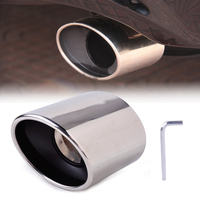 Beler New 1Pc Stainless Steel Exhaust Tail Rear Muffler Tip Pipe TailPipes Fit For Honda Accord