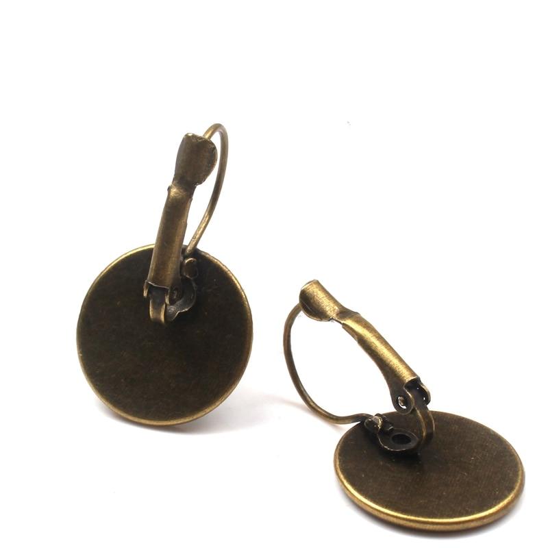 2019 new fashion cute cat earrings female glass convex round bezel wild horse Perola art photo dome round earrings women jewelry in Drop Earrings from Jewelry Accessories
