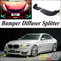 Автомобильный сплиттер диффузор бампер Canard губ для BMW 7 F01 F02 2008 ~ 2016 Тюнинг Комплект кузова/передний дефлектор подбородка автомобиля ребра ум...