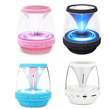 Gosear Wireless Mini Bluetooth Speakers with LED Lights and Music Player for TF Card For Cellphones Tablets Computers Laptop