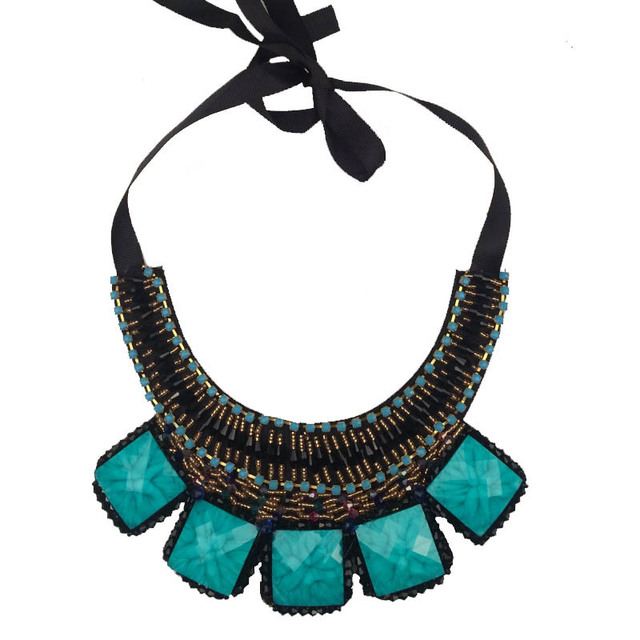 Resin Necklace Antique Style Earth Stones