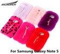Nova moda diy diamante decoração de telefone celular case de proteção saco pele de coelho de volta capas de cobertura móvel para samsung galaxy note 5