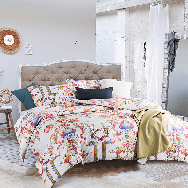 100 egyptian cotton satin bedding sets queen king size thick soft winter pattern printed duvet