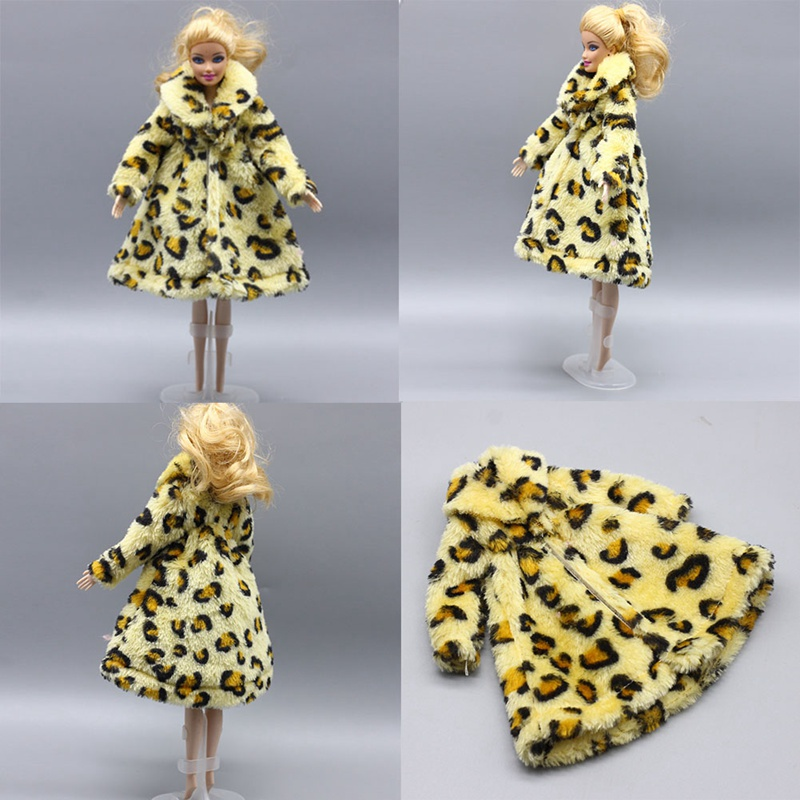 Doll Accessories Winter Wear Warm Fur Coat Dress Clothes For Dolls Fur Doll Clothing For Doll Kids Toy #4