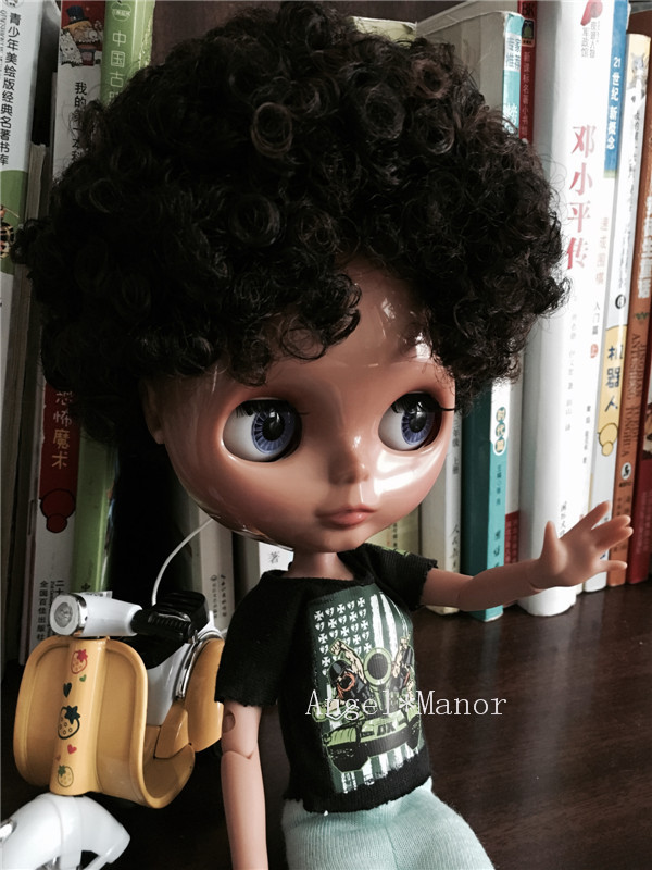 Blyth Doll ,jointed doll,with black curly hair, dark skin , For Girl's Gift,Free shipping,GYSW008 линзы oakley stockholm 02 125 желтый