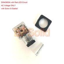 ; набор из 10 шт./лот DIN43650A прозрачный разъем 2+ 1 GND с красный светодиодный цепи переменного тока Напряжение