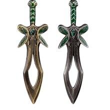 Оборона Древних DOTA 2 Бабочка Меч Оружие Брелки Сплава Старинное Серебро Цвет Брелок брелоки для мужчины